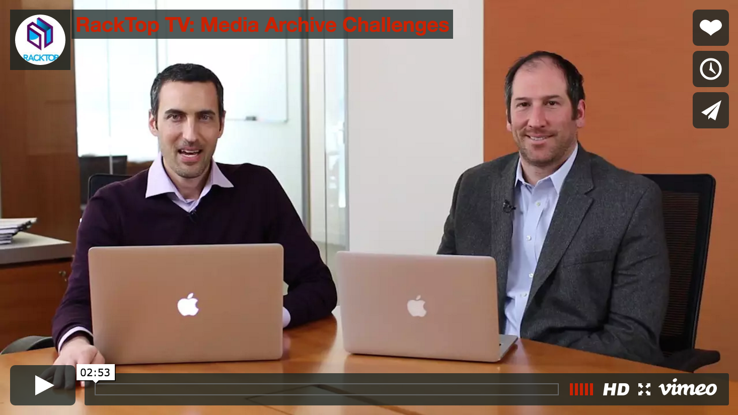 RackTop TV: Media Archive Challenges