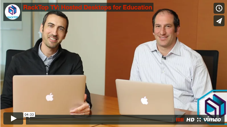 RackTop TV: Hosted Desktops for Education