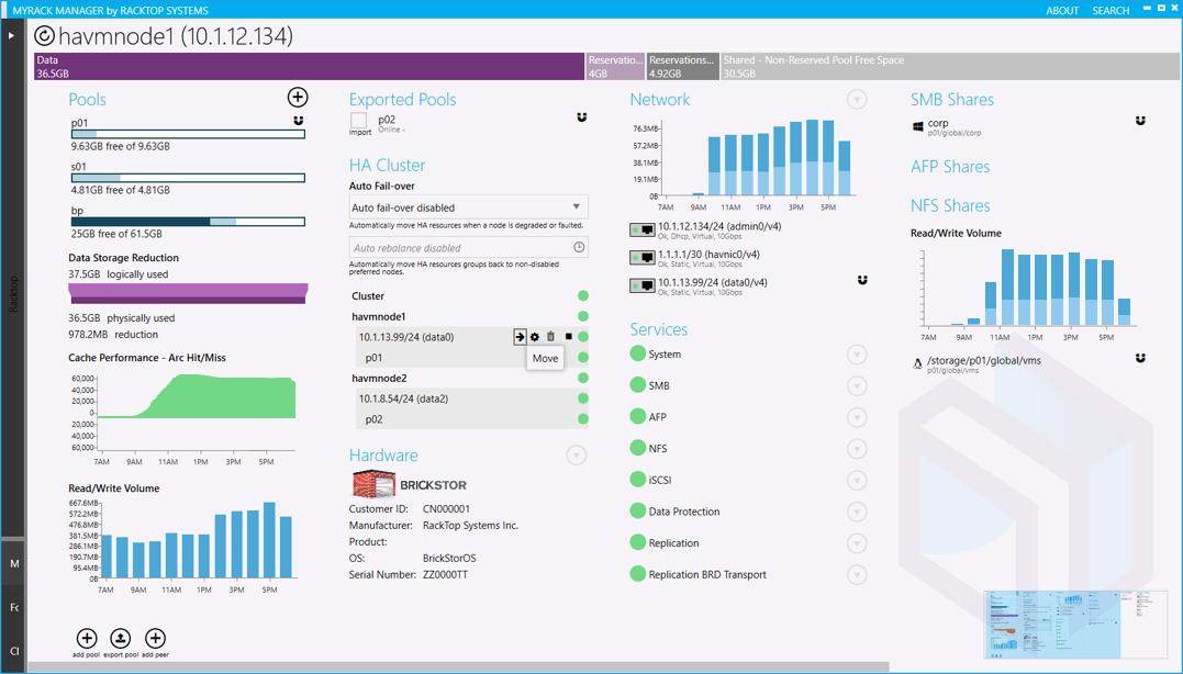 BrickStor OS MyRack_screenshot