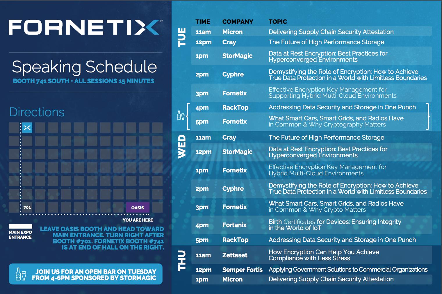 RSA speaking schedule