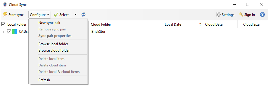 Folder Sync and Share